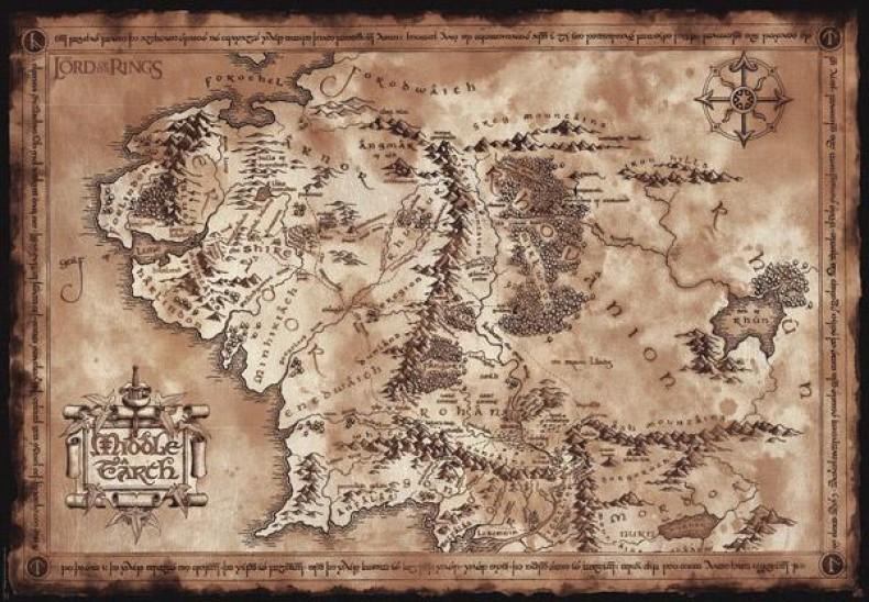 Αφίσα Χάρτης Middle Earth (91x61)