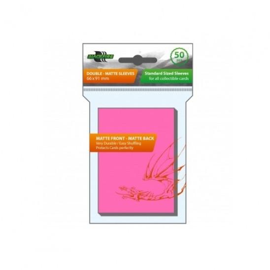 Blackfire Standard Sleeves - Double-Matte Pink (50 Sleeves)