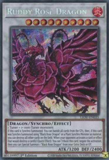 Ruddy Rose Dragon (LIOV-EN035) - 1st Edition