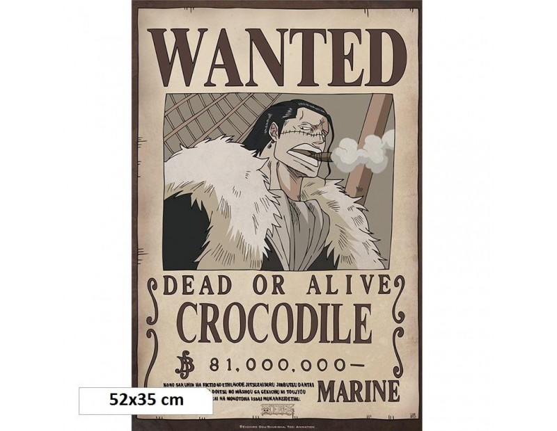 One Piece - Αφίσα Wanted Crocodile (52x35)