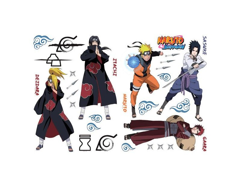 Αυτοκόλλητα Τοίχου Χαρακτήρες και Λογότυπα Naruto
