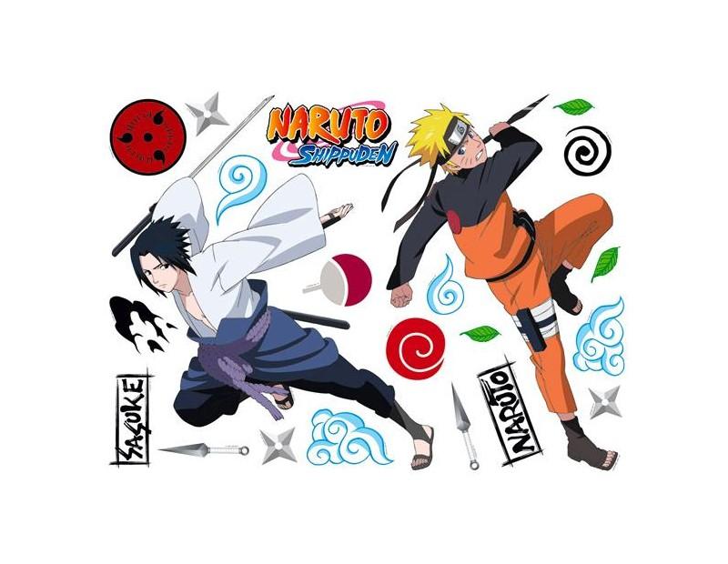 Αυτοκόλλητα Τοίχου Naruto-Sasuke and Λογότυπα