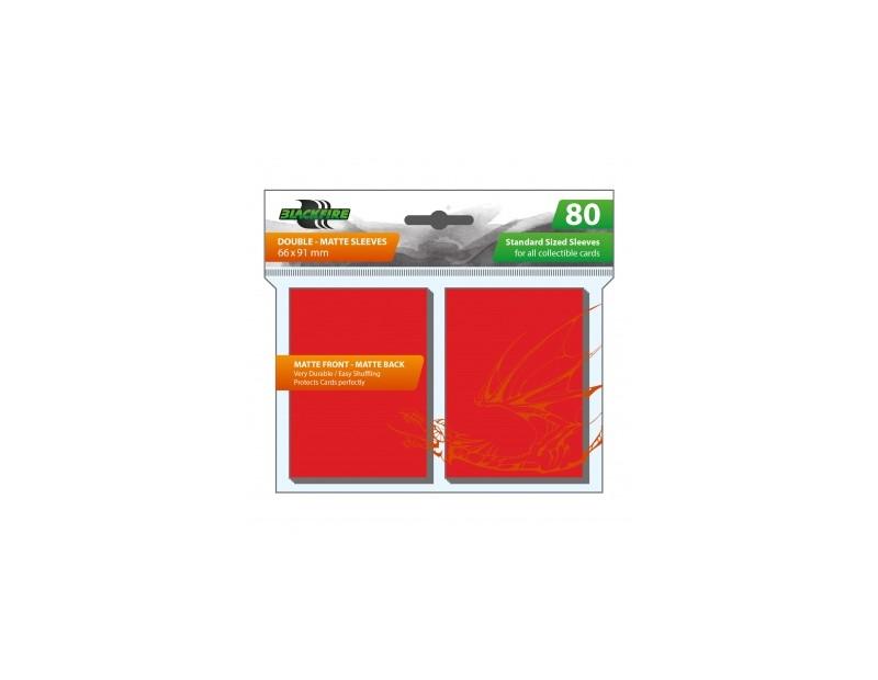 Blackfire Sleeves - Standard Double-Matte Red (80 Sleeves)