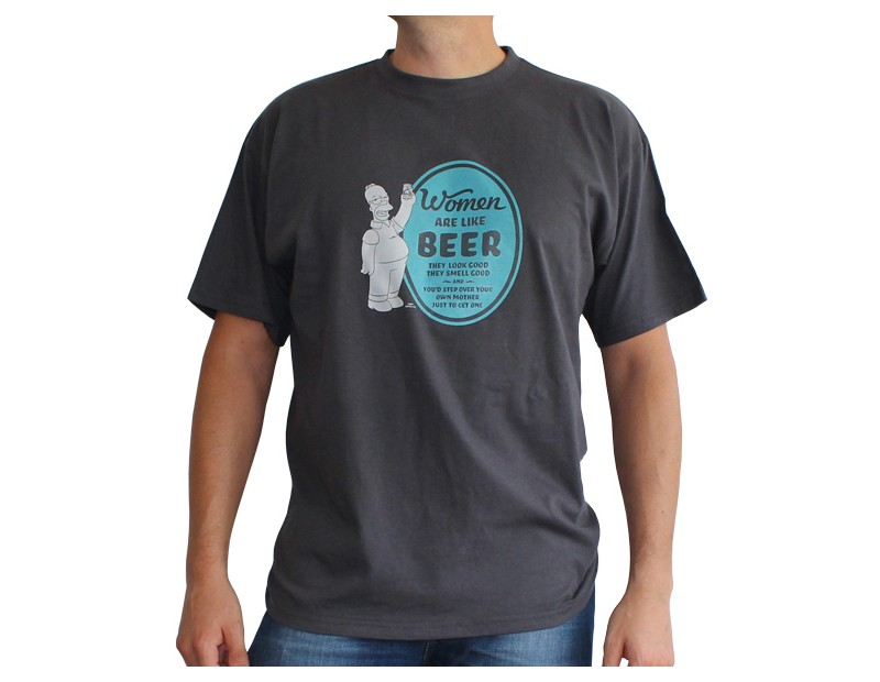 T-shirt Homer Women are like beer
