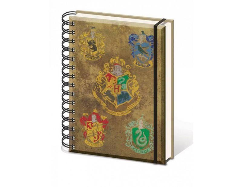 Τετράδιο Hogwarts + Houses (A5)
