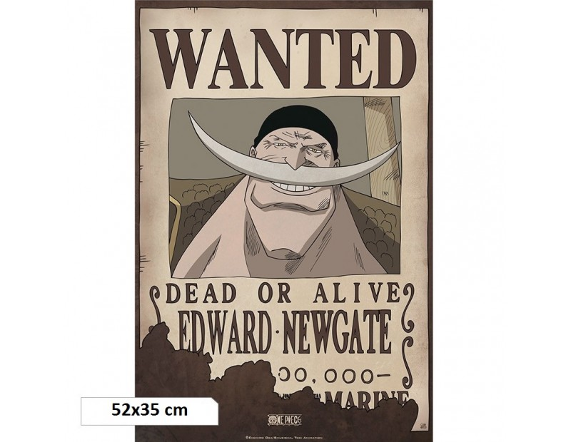 One Piece - Αφίσα Wanted Whitebeard (52x35)