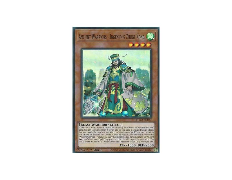 Ancient Warriors - Ingenious Zhuge Kong (ETCO-EN023) - 1st Edition
