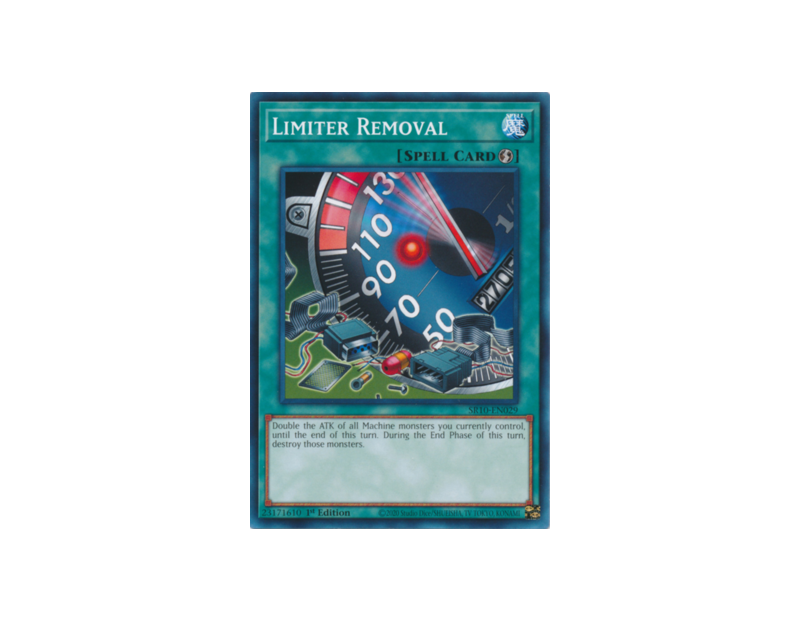 Limiter Removal (SR10-EN029) - 1st Edition