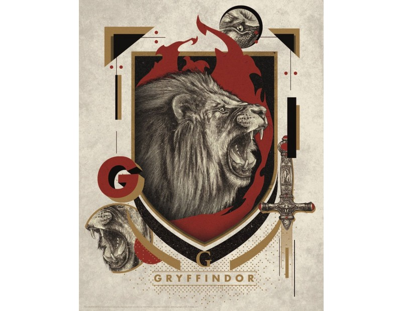 Art Print Gryffindor (36x 28)