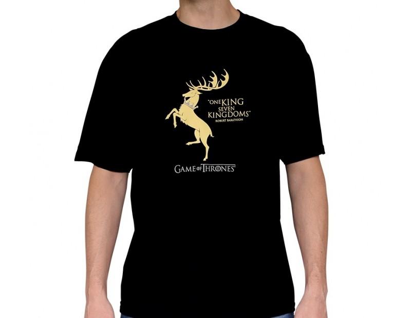 T-shirt Baratheon / One King, Seven Kingdoms