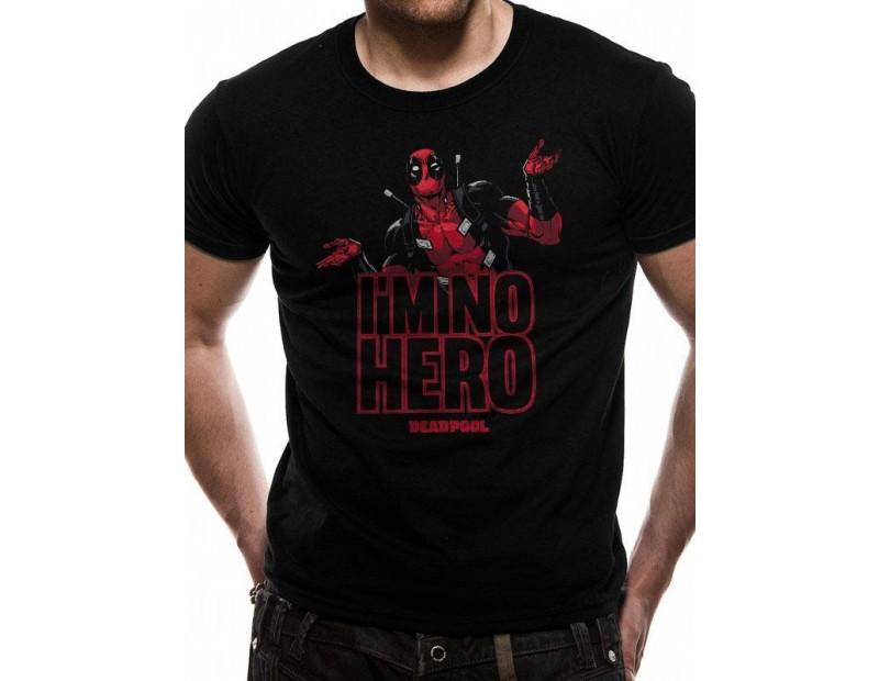 T-Shirt Deadpool I'm No Hero