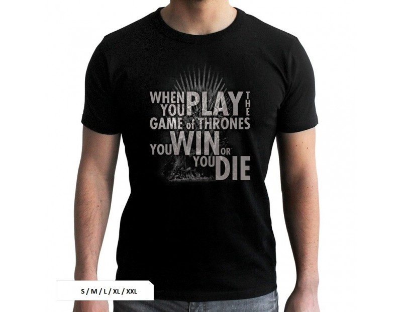 T-Shirt Iron Throne You Win or You Die