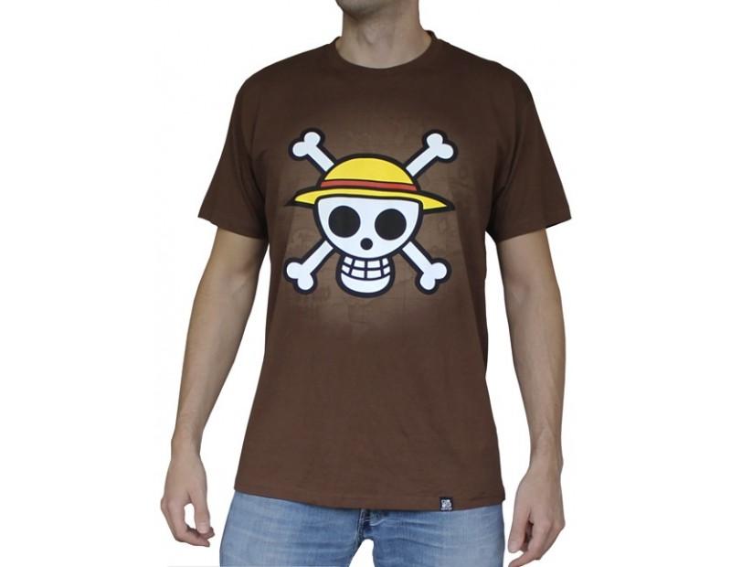 T-shirt Straw Hat Pirates (Καφέ)