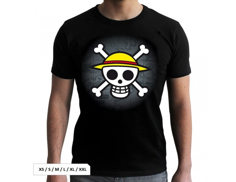 T-shirt Straw Hat Pirates (Μαύρο)