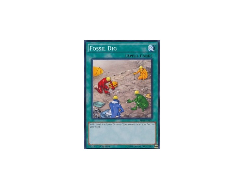 Fossil Dig (SR04) - 1st Edition