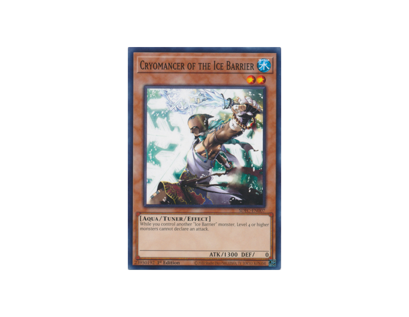 Cryomancer of the Ice Barrier (SDFC-EN007) - 1st Edition