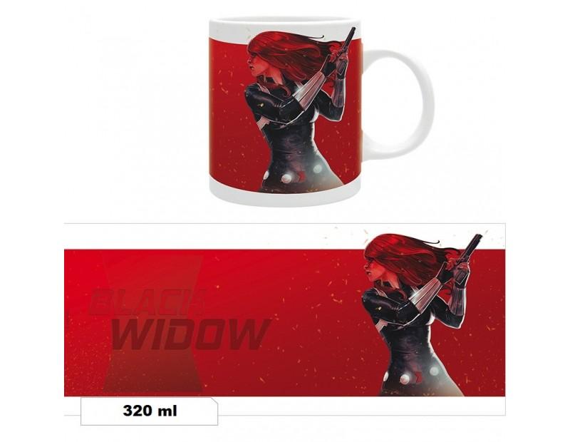 Κούπα Black Widow on fire (320ml)