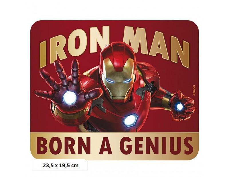 Mousepad Iron Man Born to be a Genius (Flexible)