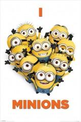 Αφίσα I love Minions (91x61)