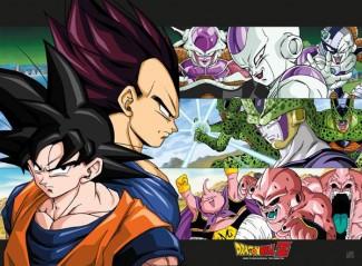 Αφίσα Goku + Vegeta + Enemies (38x52)