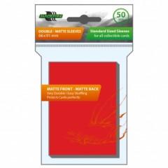Blackfire Sleeves - Standard Double-Matte Red (50 Sleeves)