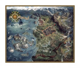 Puzzle Northern Realms Map (1000 pieces)